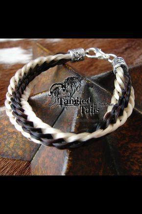 Horse hair keepsake bracelet jewelry Tangled Tails by PonyGurl