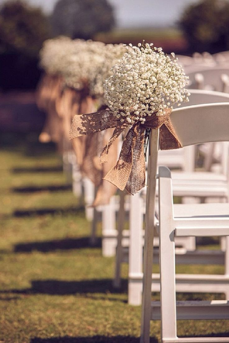 Need baby's breath for down the aisle with burlap bows. Should be simple.                                                                                                                                                     More