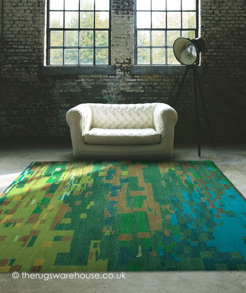 Mist Green Rug (handknotted, 100% New Zealand Wool) http://www.therugswarehouse.co.uk/green-rugs/mist-green-rug.html