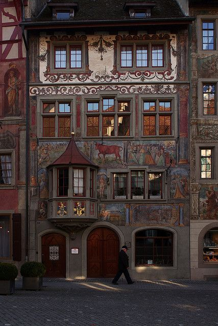 The Rother Ochsen (Red Ox) is the oldest tavern of the city of Stein am Rhein, Switzerland