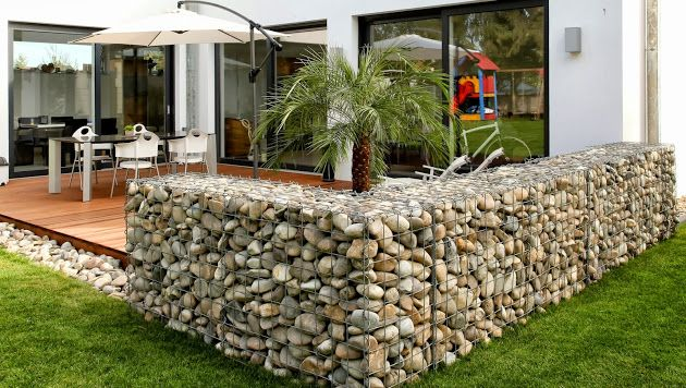 ❧ Low Cost gabion fence Cheaper than block stone gabion walls