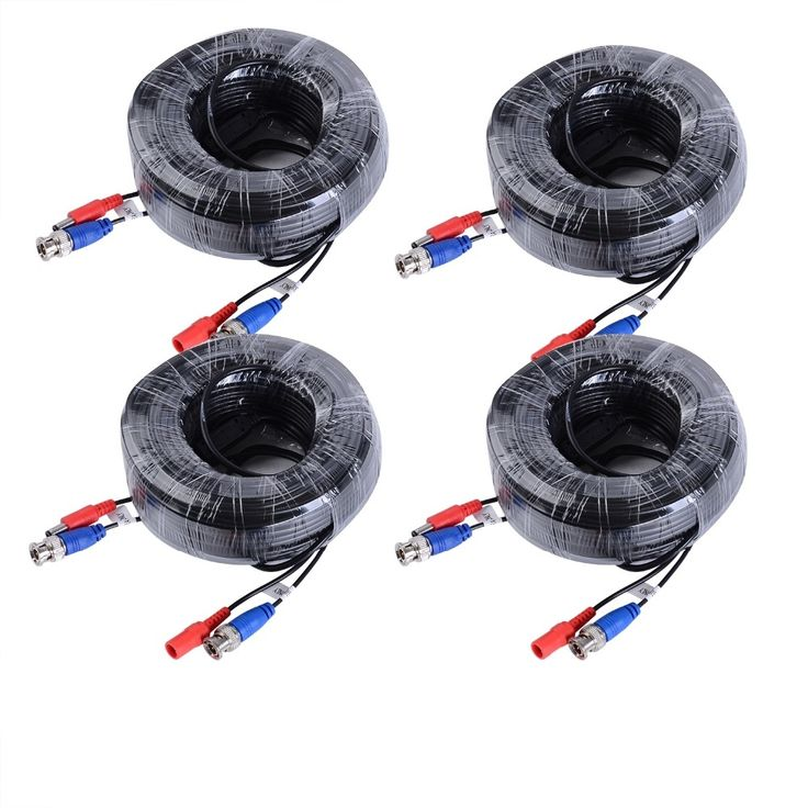 47.99$  Buy here - http://ali0oo.shopchina.info/go.php?t=32793631041 - ANNKE 4 Packed White / Black color 30M / 100 Feet BNC Video Power Cable For CCTV Camera DVR Security System  #aliexpresschina