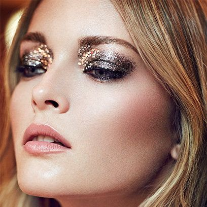 Glitter make-up for Christmas. For more make-up ideas like this, click the picture or visit RedOnline.co.uk
