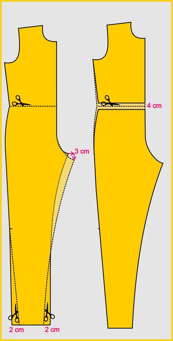 Para fazer a adaptação deste modelo, utilize a base do macacão, que você pode ver o passo a passo do traçado, em vídeo, aqui  , ou a sequ...
