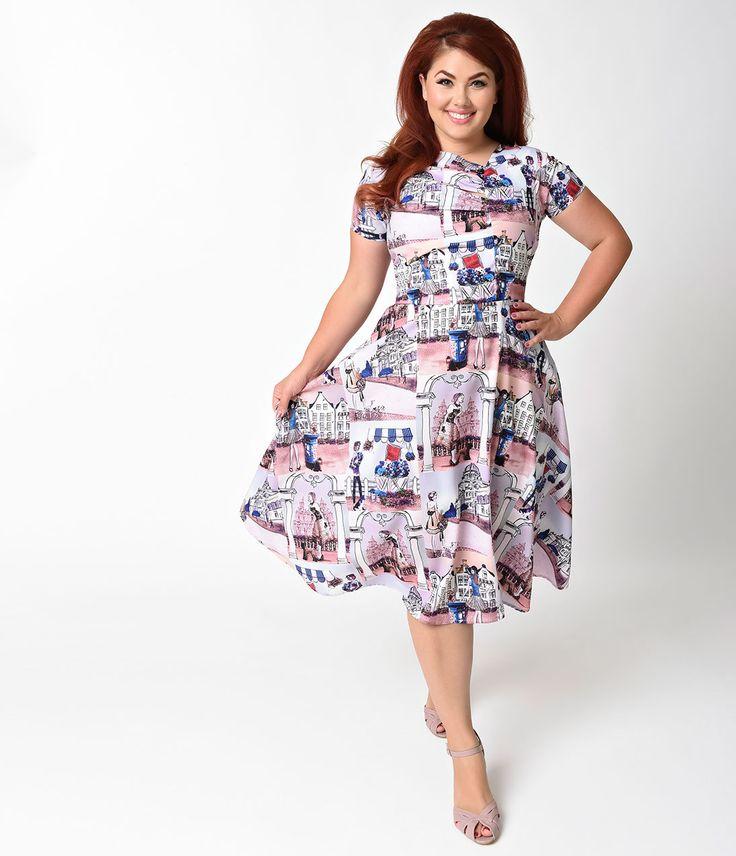 Plus Size Vintage Dresses, Plus Size Retro Dresses