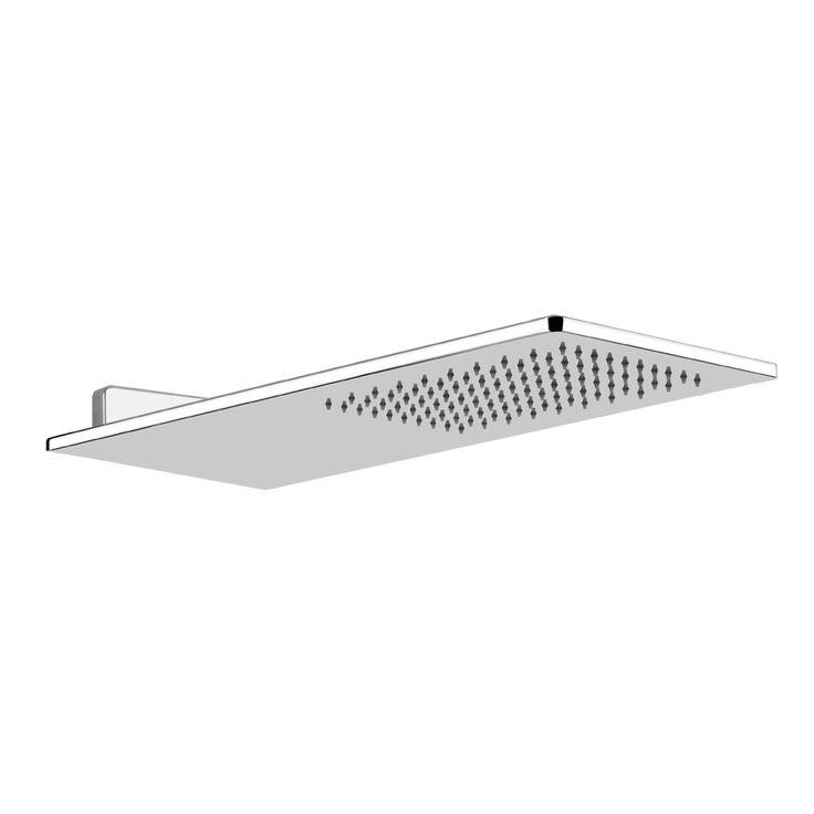 gessi eleganza rectangular wall mounted shower head