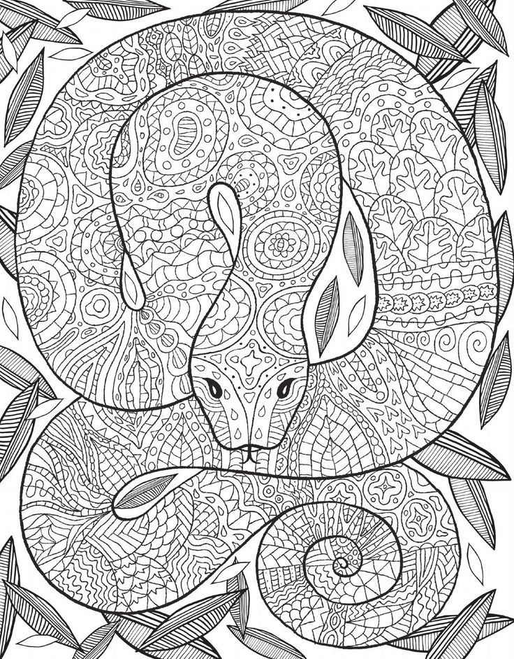 complicated coloring pages snake - photo#21