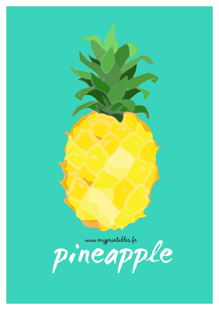 Deco Wallpaper 3d Free Printable Pineapple Poster Affiche Ananas