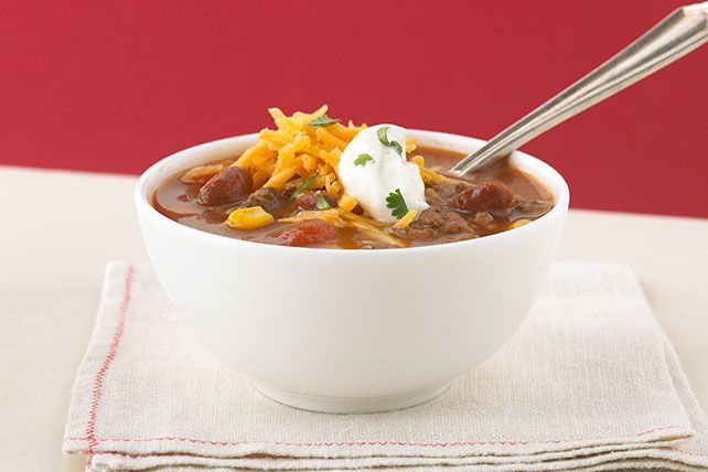 Get a little heat and a lot of flavor with this delicious taco soup. Learn more about this easy dish that looks like soup but tastes like tacos today!
