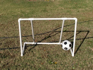 How to make a net for a PVC soccer goal (and a link for a good PVC soccer goal tutorial).
