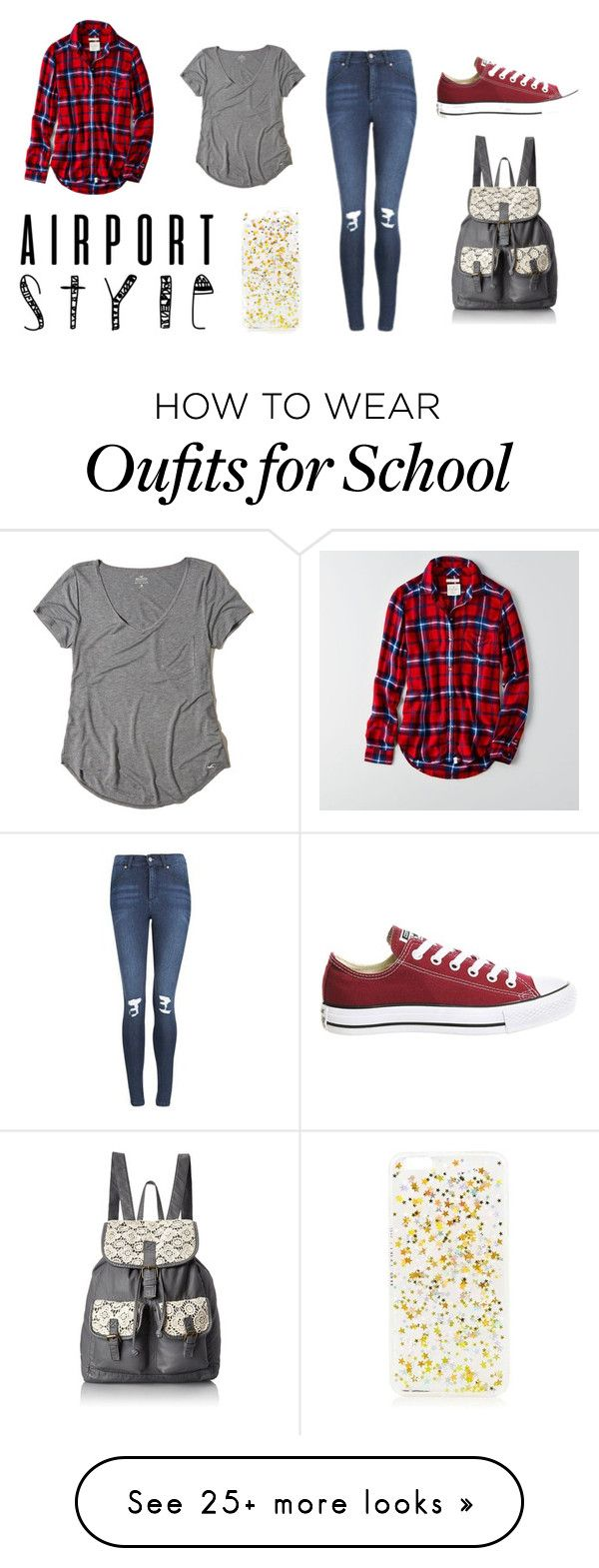 """School #77"" by annao133 on Polyvore featuring American Eagle Outfitters, Hollister Co., Skinnydip, Cheap Monday, T-shirt & Jeans and Converse"