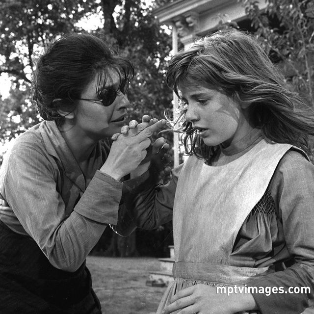 "131 years ago today Anne Sullivan began teaching a young girl by the name of Helen Keller. Pictured here are the two actresses who portrayed these two women in the film ""The Miracle Worker,"" Anne Bancroft and Patty Duke. Their performances, rightfully so, would earn each of them an Academy Award. . . . #themiracleworker #annesullivan #helenkeller #annebancroft #pattyduke #oscars #academyawards #actresses #arthurpenn #bestactress"