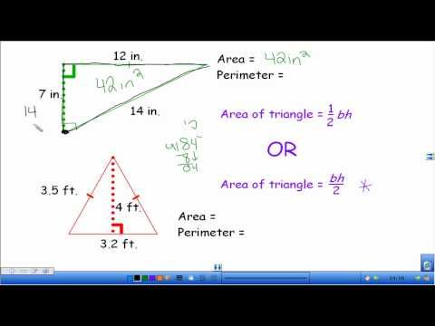 ▶ Area and Perimeter of Triangles - YouTube