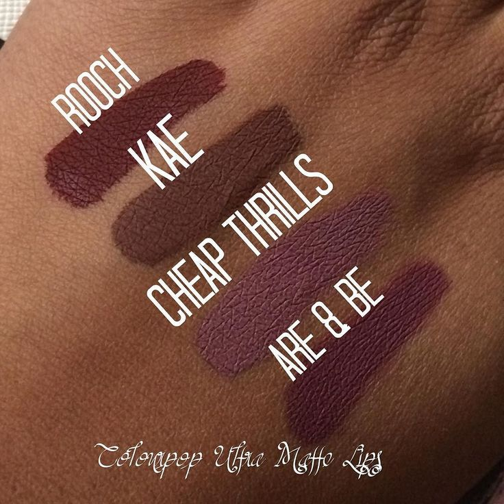 Quick swatches of the #colourpop shades #Kae #Rooch #cheapthrills and #areandbe…