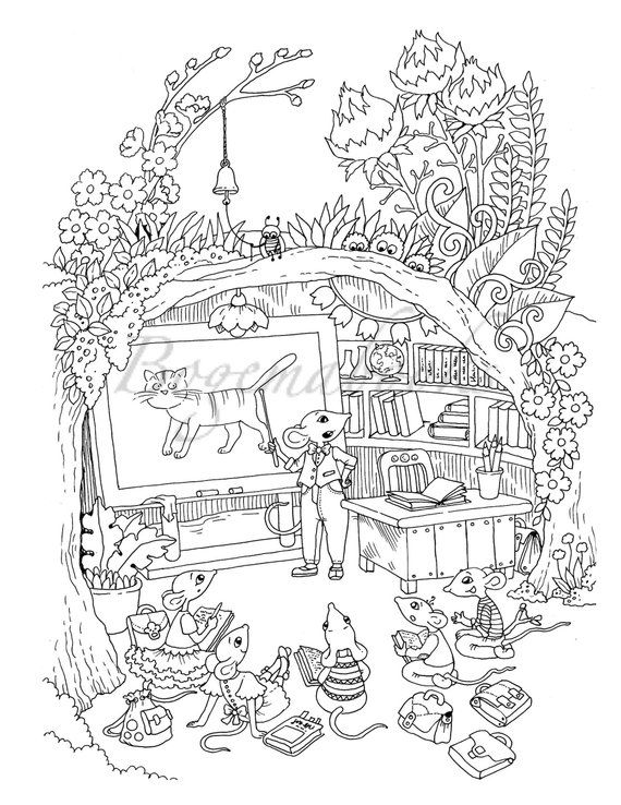 Nice Little Town 6 (Adult Coloring Book, Coloring pages PDF ...
