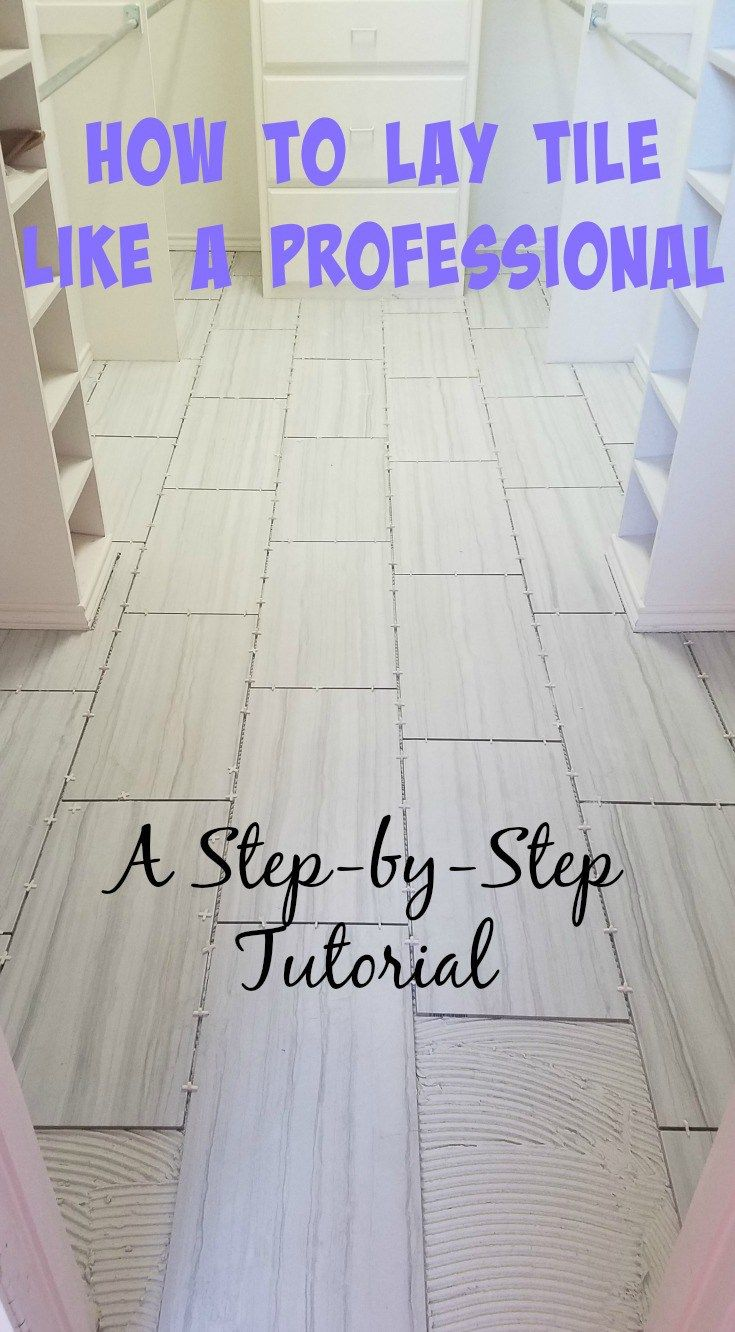 Diy Tutorial How To Lay Tile How To Lay Tile Diy Flooring