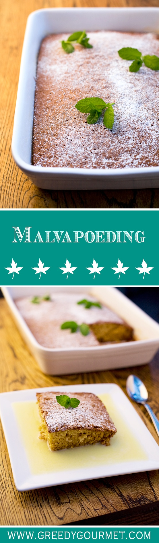 Malvapoeding a.k.a. Marshmallow Pudding is a traditional South African dessert.