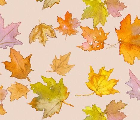Autumn Leaves (large) fabric by mariden on Spoonflower - custom fabric