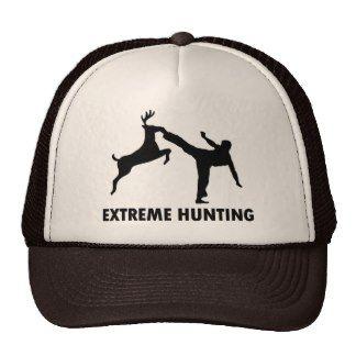 Extreme Hunting Deer Karate Kick Trucker Hat