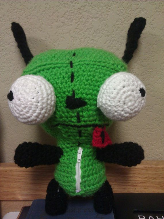 Crochet Invader Zim Patterns : Crochet GIR from Invader Zim by KiyunisCreations on Etsy, $40.00