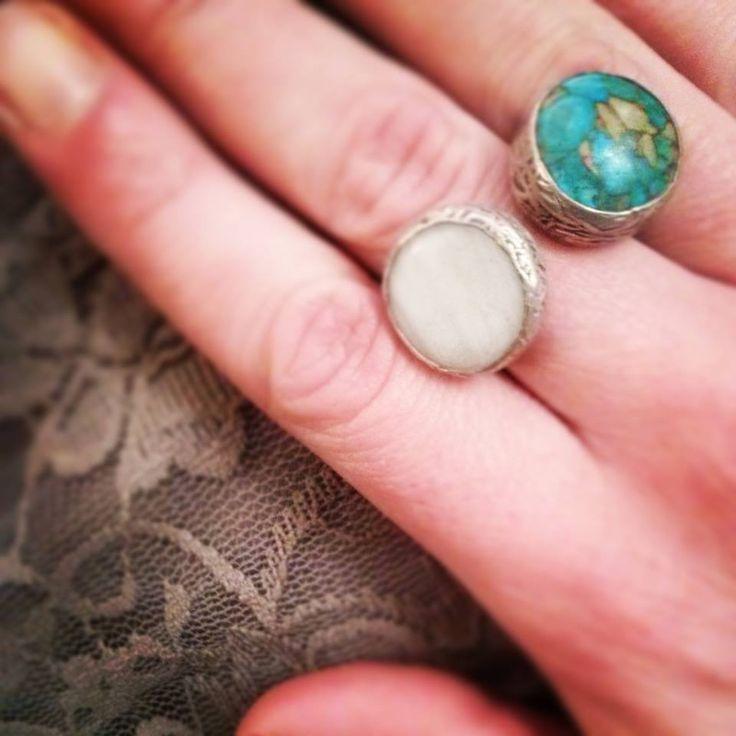 Anelli in #Zama e #pietra - #Frida #Creazioni