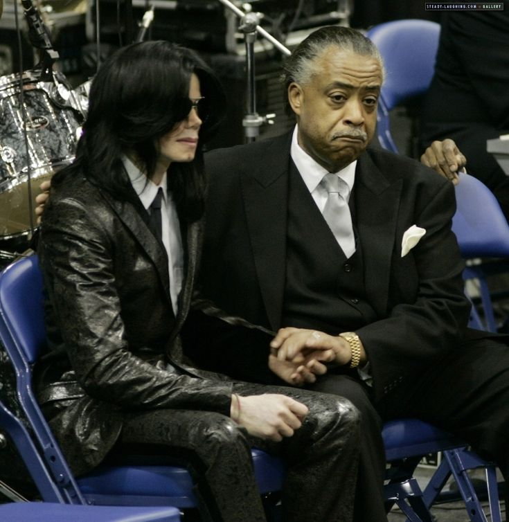 Photo of 2006 / Michael Jackson and Rev. Al Sharpton at the Funeral of James Brown