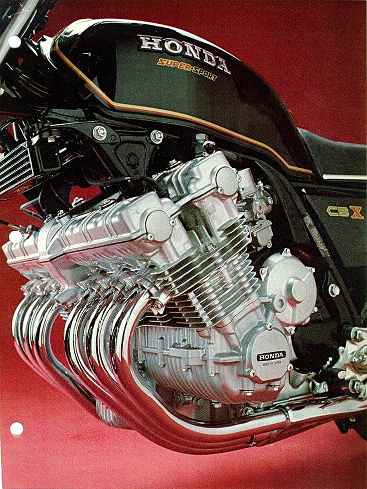 Honda CBX 1000. The world's fastest production motorcycle in 1978-1979. Dethroned by the Suzuki GS1100 ET in 1980. Honda continued the CBX in 1981-82 as a sport touring motorcycle.