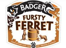 HALL & WOODHOUSE FURSTY FERRET - a sweet nutty palate, hoppy aroma and a hint of Seville oranges give this tawny amber ale its distinctive personality.