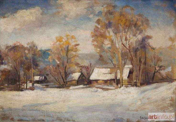 Stefan FILIPKIEWICZ ● Pejzaż zimowy ●