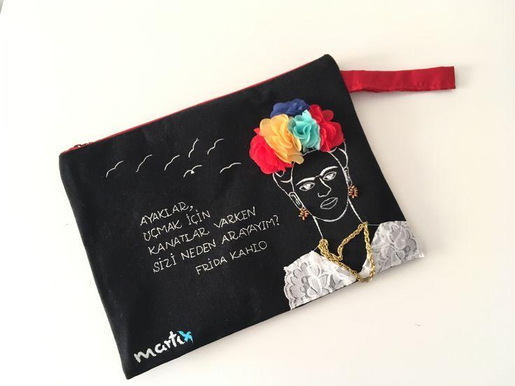 Çanta - Frida Kahlo El Çantası