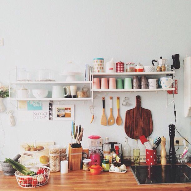 Cool kitchen! So colorful!