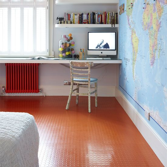 Statement flooring | Our top 8 decorating ideas. This one is rubber!