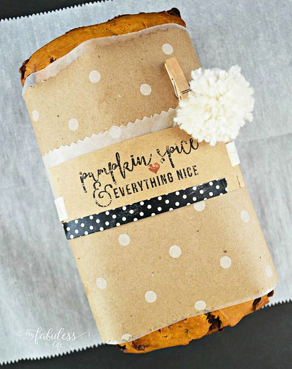 Pumpkin Bread Printable Labels. Pumpkin Spice and Everything Nice