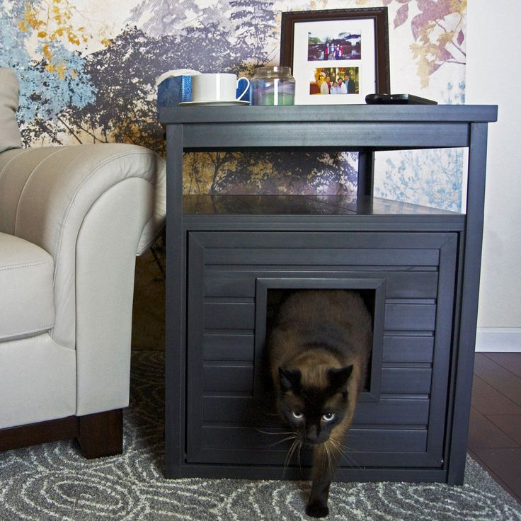 New Age Pet Habitat 'n Home Jumbo Litter Loo - Hide an unsightly litter box with the clever and stylish New Age Pet Habitat 'n Home Jumbo Litter Loo . This versatile piece is made of durable, eco...