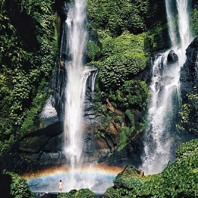 Lemukih Waterfall, Buleleng #baliwaterfall #beautifulwaterfall #wonderfulbali #balitravel #waterfall