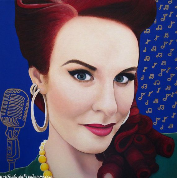 """True Beauty 'Tia Brazda' by Toronto Portrait Artist Malinda Prudhomme. Malinda captures the stunning Jazz Singer using acrylic paint and oil paint on gallery style canvas. Contact Info@MalindaPrudhomme.com with any inquiries. :)"