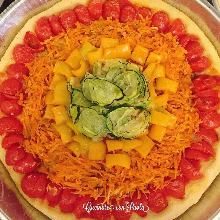 Rainbow pizza!