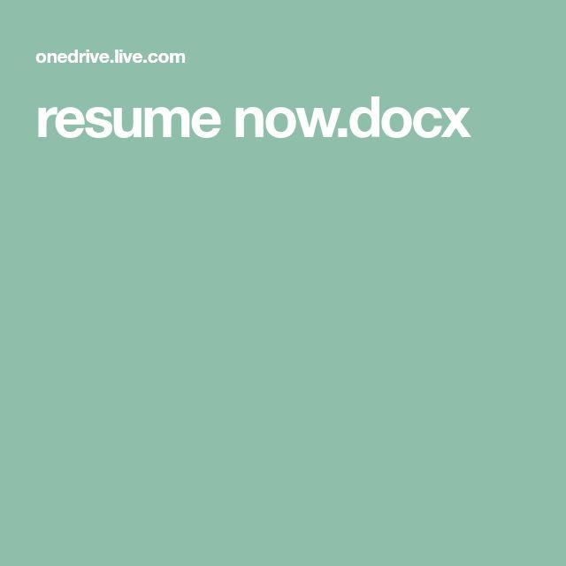 resume nowdocx m Pinterest