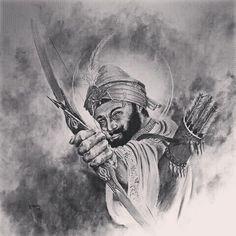 #shri #guru #gobind #singh #ji  #amazingview #print #draw  #drawing #sikh #sikhi #singh #singhni #punjab #photooftheday #waheguru #ji #cross #bow #archives #great #pencil #pencildrawing #dumalla #target #gatka #war #ture #10 #guruji #instafollow #instalike by purple_sardar_bhagwant_singh_