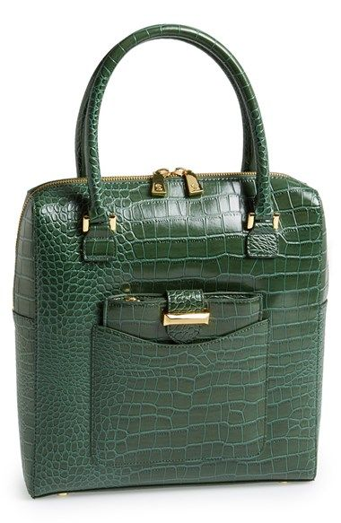SNOB ESSENTIALS Croc Embossed Tote available at #Nordstrom