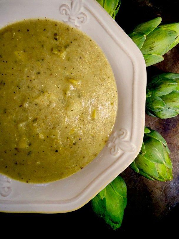 Stuffed Artichoke Soup