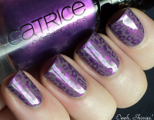 Catrice - Put Lavendar On Agenda, stamped with Catrice - Heavy Metallilac and Konad stamping plate m57