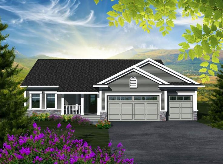 Best House Plans Images On Pinterest Small House Plans - Craftsman house plans with 3 car garage