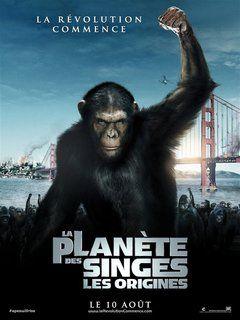 La planète des singes: les origines - T bon scénar, t bons trucages - bon montage, bonne réal, bon jeu d'acteurs - http://www.programme-tv.net/…/2889015-la-planete-d… #fiction #politique #utopie #dystopie #futur #société #mutation - Will mène des expériences sur des chimpanzés pour développer un traitement contre la maladie d'Alzheimer. Une de ses présentations tourne à la catastrophe et une femelle est abattue. Will récupère chez lui son bébé...