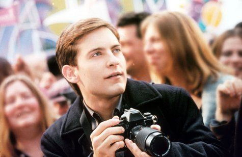 Tobey Maguire in Spider-Man - the only Peter Parker/Spider-Man for me. <3