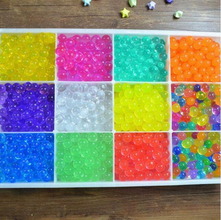500 unidades 2016 Hidrogel Gel Creciente de Agua Bolas de Polímero Planta Suelo De Cristal Flor de La Boda Decoración Para El Hogar