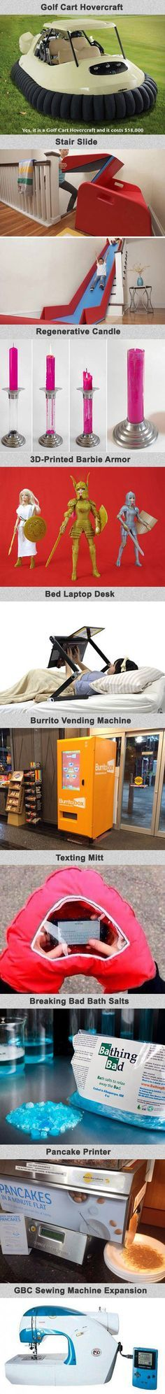 Here are some bizarre gadgets and random inventions you will not believe actually exist.