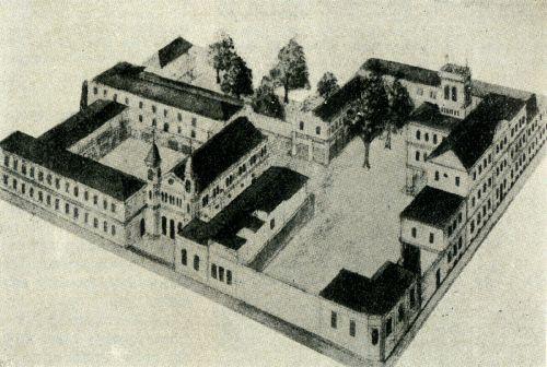Colegio Pío IX de artes y oficios en 1899.