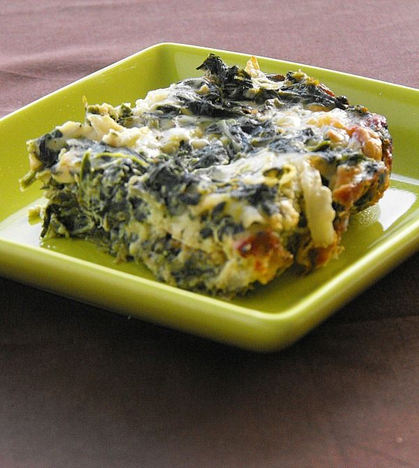Creamy Spinach Casserole: tastes like spinach pie without the crust.