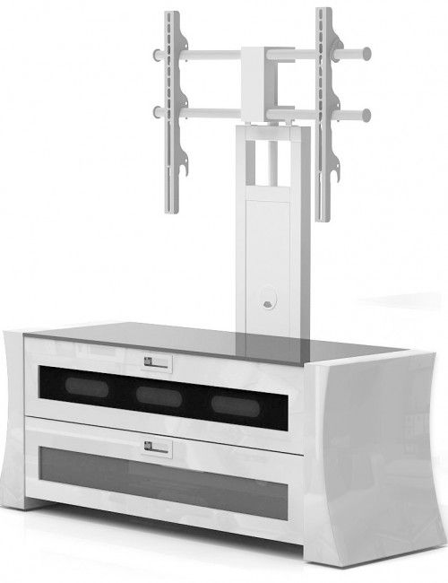 tv stand with mount. white tv stand with mount